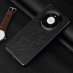 Soft Luxury Leather Snap On Case Cover K06 for Huawei Mate 40 Pro Black