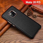 Soft Luxury Leather Snap On Case Cover L01 for Huawei Mate 20 RS Black