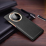 Soft Luxury Leather Snap On Case Cover L01 for Huawei Mate 40 Pro Black