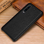 Soft Luxury Leather Snap On Case Cover P01 for Huawei P30 Black