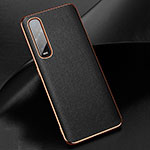 Soft Luxury Leather Snap On Case Cover R01 for Oppo Find X2 Pro Black