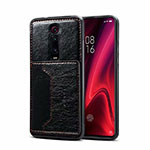Soft Luxury Leather Snap On Case Cover R01 for Xiaomi Mi 9T Pro Black