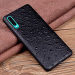 Soft Luxury Leather Snap On Case Cover R03 for Huawei P30 Black