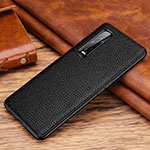 Soft Luxury Leather Snap On Case Cover R03 for Oppo Find X2 Pro Black