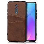 Soft Luxury Leather Snap On Case Cover R03 for Xiaomi Mi 9T Pro Brown