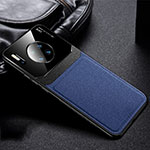 Soft Luxury Leather Snap On Case Cover R04 for Huawei Mate 30 Pro Blue