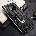 Soft Luxury Leather Snap On Case Cover R06 for Huawei Mate 30 Pro Black