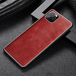 Soft Luxury Leather Snap On Case Cover R07 for Apple iPhone 11 Pro Max Red