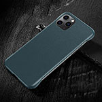 Soft Luxury Leather Snap On Case Cover R08 for Apple iPhone 11 Pro Max Cyan
