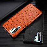 Soft Luxury Leather Snap On Case Cover R09 for Huawei P30 Pro Orange