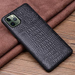 Soft Luxury Leather Snap On Case Cover R11 for Apple iPhone 11 Pro Max Black