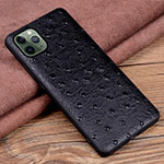 Soft Luxury Leather Snap On Case Cover R12 for Apple iPhone 11 Pro Max Black