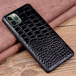 Soft Luxury Leather Snap On Case Cover R14 for Apple iPhone 11 Pro Max Black
