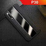 Soft Luxury Leather Snap On Case Cover S01 for Huawei P30 Black