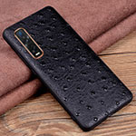 Soft Luxury Leather Snap On Case Cover S02 for Oppo Find X2 Pro Black