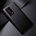 Soft Luxury Leather Snap On Case Cover S03 for Huawei P40 Pro+ Plus Black