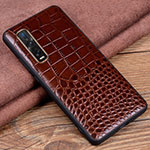Soft Luxury Leather Snap On Case Cover S03 for Oppo Find X2 Pro Brown