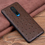 Soft Luxury Leather Snap On Case Cover S03 for Xiaomi Redmi K30 5G Brown