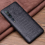 Soft Luxury Leather Snap On Case Cover S04 for Xiaomi Mi 10 Pro Black