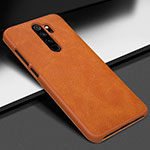 Soft Luxury Leather Snap On Case Cover S06 for Xiaomi Redmi Note 8 Pro Orange