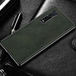 Soft Luxury Leather Snap On Case Cover U04 for Oppo Find X2 Pro Midnight Green