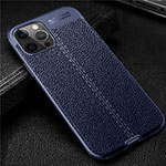 Soft Silicone Gel Leather Snap On Case Cover for Apple iPhone 12 Pro Blue