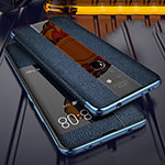 Soft Silicone Gel Leather Snap On Case Cover for Huawei Mate 20 Blue