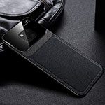 Soft Silicone Gel Leather Snap On Case Cover H01 for Huawei Mate 20 Pro Black
