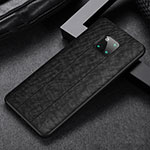 Soft Silicone Gel Leather Snap On Case Cover H03 for Huawei Mate 20 Pro Black