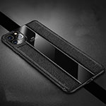 Soft Silicone Gel Leather Snap On Case Cover H04 for Apple iPhone 11 Pro Black