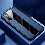 Soft Silicone Gel Leather Snap On Case Cover S01 for Oppo Find X2 Neo Blue