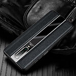 Soft Silicone Gel Leather Snap On Case Cover S01 for Xiaomi Redmi K30 5G Black