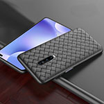 Soft Silicone Gel Leather Snap On Case Cover S03 for Xiaomi Redmi K30 5G Black