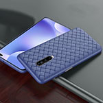 Soft Silicone Gel Leather Snap On Case Cover S03 for Xiaomi Redmi K30 5G Blue