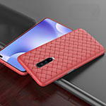 Soft Silicone Gel Leather Snap On Case Cover S03 for Xiaomi Redmi K30 5G Red