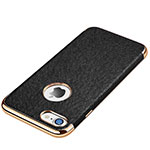 Soft Silicone Gel Leather Snap On Case for Apple iPhone SE (2020) Black