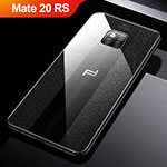Soft Silicone Gel Leather Snap On Case W01 for Huawei Mate 20 RS Black