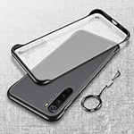Transparent Crystal Hard Case Back Cover S01 for Xiaomi Redmi Note 8 Black