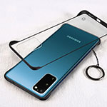 Transparent Crystal Hard Rigid Case Back Cover S02 for Samsung Galaxy S20 5G Black