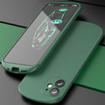 Ultra-thin Silicone Gel Soft Case 360 Degrees Cover N01 for Apple iPhone 12 Green
