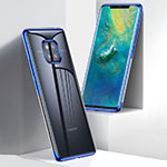 Ultra-thin Transparent TPU Soft Case Cover for Huawei Mate 20 Pro Blue
