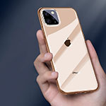 Ultra-thin Transparent TPU Soft Case Cover H01 for Apple iPhone 11 Pro Gold