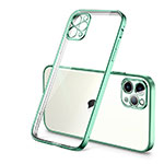 Ultra-thin Transparent TPU Soft Case Cover H01 for Apple iPhone 12 Pro Green