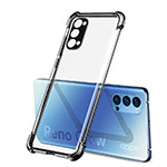 Ultra-thin Transparent TPU Soft Case Cover H01 for Oppo Reno4 Pro 5G Black
