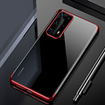 Ultra-thin Transparent TPU Soft Case Cover H02 for Huawei P40 Pro+ Plus Red