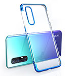 Ultra-thin Transparent TPU Soft Case Cover H02 for Oppo Find X2 Neo Blue