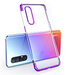 Ultra-thin Transparent TPU Soft Case Cover H02 for Oppo Find X2 Neo Purple