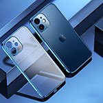 Ultra-thin Transparent TPU Soft Case Cover S01 for Apple iPhone 12 Blue
