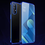Ultra-thin Transparent TPU Soft Case Cover S01 for Oppo Find X2 Neo Blue
