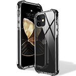 Ultra-thin Transparent TPU Soft Case Cover S02 for Apple iPhone 12 Black